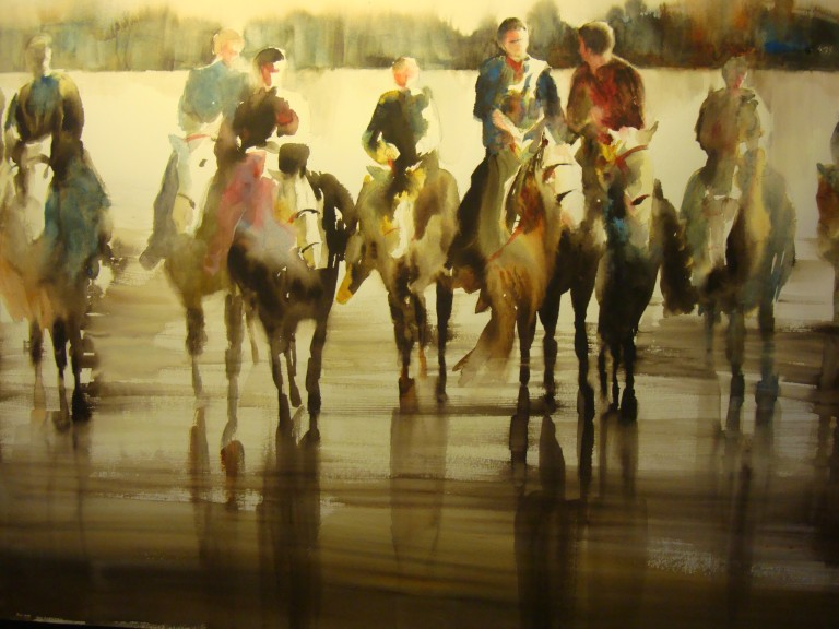 Beach Riders, Kathy Collins, 22x30